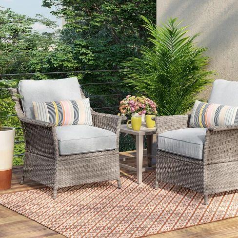 Foxborough 2pk Patio Club Chair - Threshold™ : Target