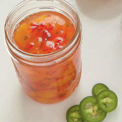 Peach-Pepper Preserves. We love jam with jalapenos! 4 1/2 cups peeled ...