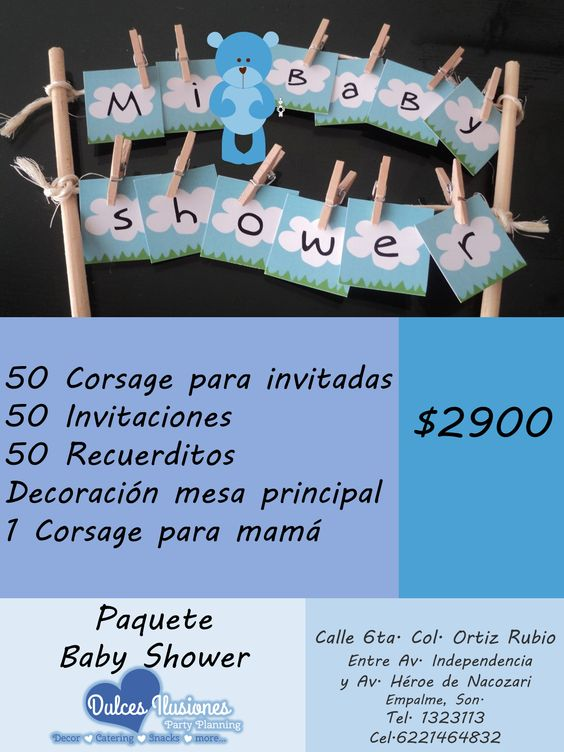 PAQUETE BABY SHOWER 5
