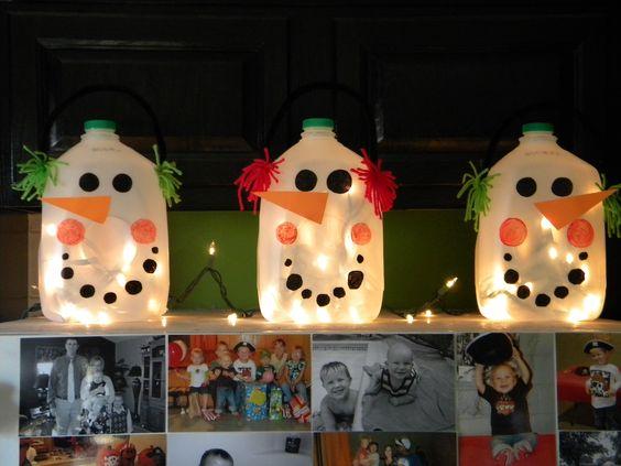 Snowmen Milk Jugs