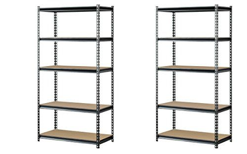 Muscle Rack Ur361872pb5paz Sv Silver Vein Steel Storage Rack 5 Adjustable Shelves 4000 Lb Capacity 7 Steel Storage Rack Plastic Lockers Adjustable Shelving