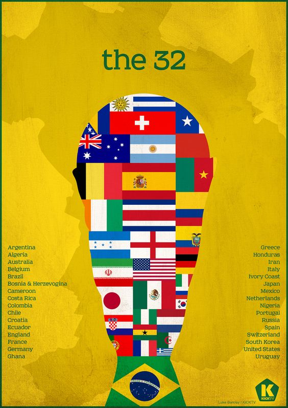 The 32 #Brazil #worldcup #2014