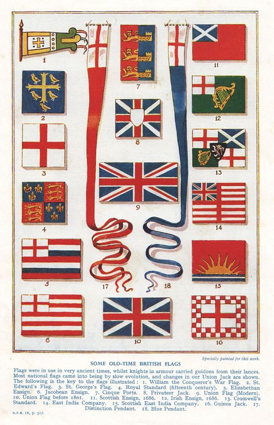 Historic British Flags 18th Century Flag Decor Union Jack