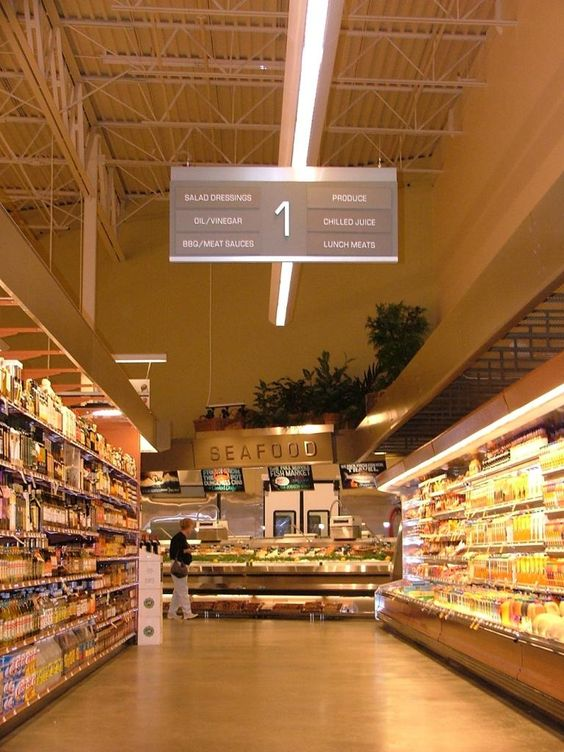 https://flic.kr/p/8XR2x6 | Grocery Store Aisle Signage | Interior ...