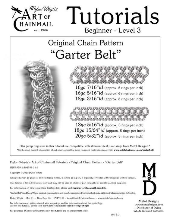 Kette-Tutorial Garter Belt PDF von dylonwhyte auf Etsy