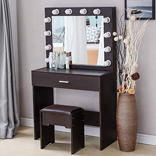 Riforla Lighted Makeup Vanity Mirror Light Makeup Dressing Table Vanity Set Mirrors With Dimmer Dressing Table Vanity Mirror With Lights Beautiful Vanity Table Vanity table with lighted mirror and bench