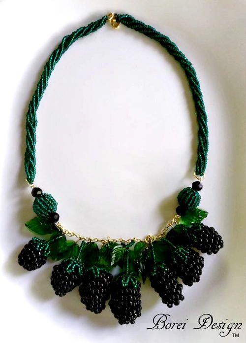 Beaded Berry DIY Necklace | AllFreeJewelryMaking.com
