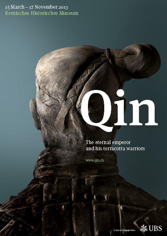 Veranstaltungsplakat «Qin – Der unsterbliche Kaiser und seine Terrakottakrieger», petrol.