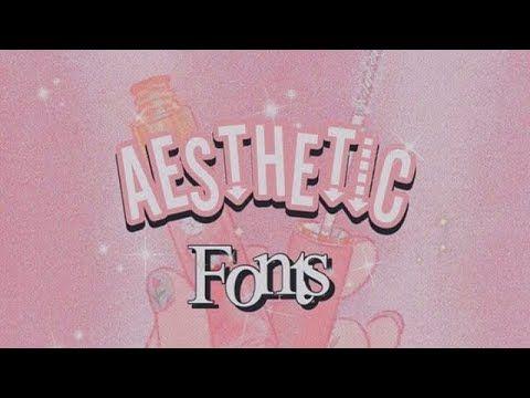 Aesthetic Fonts Dafont Com Softhetic Youtube Aesthetic Fonts Dafont Fonts Romantic Fonts