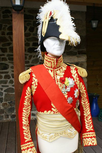 Marshal Lannes was the titular Colonel ( Colonel-General ) of the Swiss troops in French service.  Here's a reproduction of his Swiss uniform.