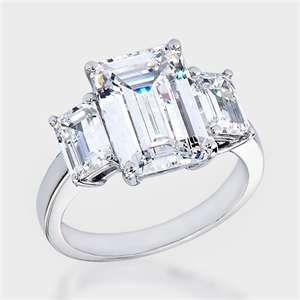Emerald cut engagement ring...