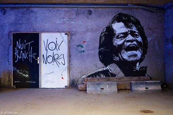 Jef Aérosol, Halle Freyssinet. photo UFUNK.Nuit Blanche 2014.Street-Art. Paris