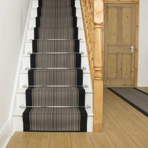 Rosalind Wheeler Indoor Outdoor Carpet Allante In Anthracite   Indoor Outdoor Carpet For Stairs   Grey   Electric Blue   Wall   Carpet Runner   Trim