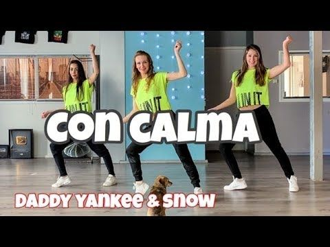Daddy Yankee Snow Con Calma Easy Fitness Dance Video Baile Choreography Coreo Youtube Daddy Yankee Dance Videos Zumba Dance