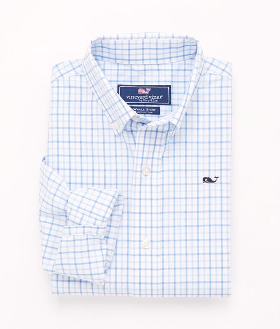 Shop Tattersall Whale Shirt at vineyard vines