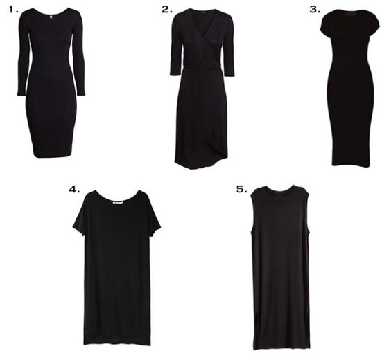 Five Black Dresses for fall.