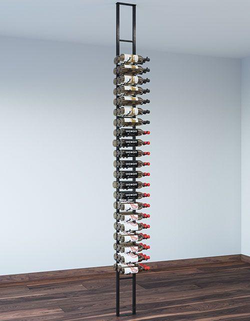 63 Bottle Floating Wall Wine Rack Kit 1 Sided Wine Rack Wall Wine Rack Metal Wine Rack