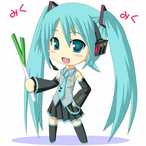 Gambar Hatsune Miku Anime Gif Chibi Google Search Pinterest Gambar