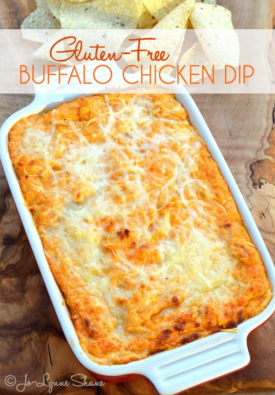 Gluten-Free Buffalo Chicken Dip: You better double it. This dip does NOT sit around for long! I have a SECRET that makes this THE BEST Buffalo Chicken Dip you've ever had. Trust me. You will NEVER go back. Recipe found at jolynneshane.com.