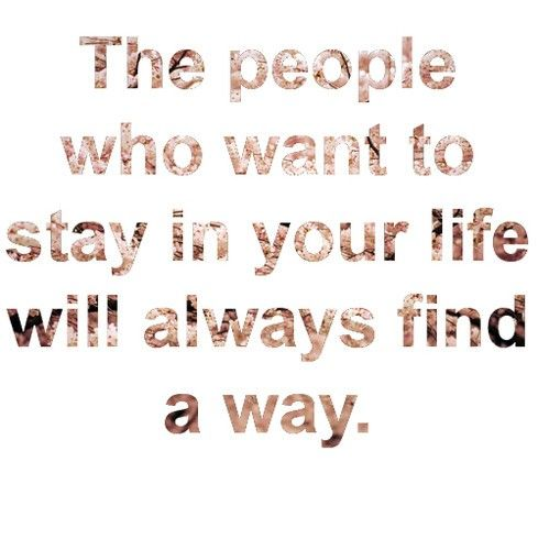 Those that love you find a way.