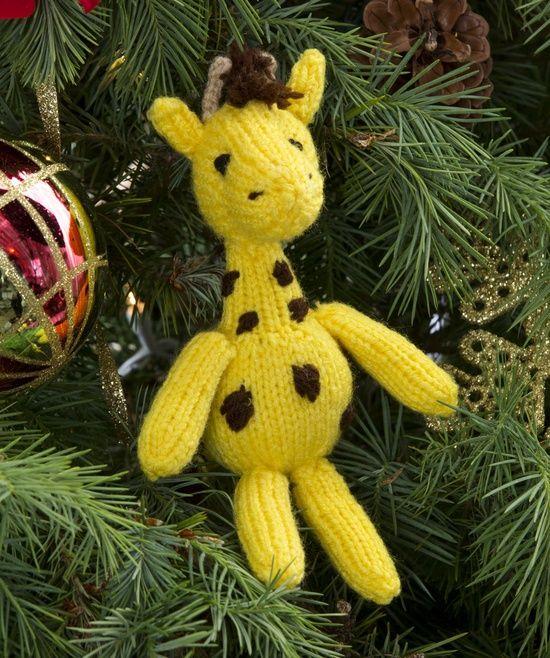 Knitting Patterns For Giraffe Free : knit giraffe pattern free ... , New Free Patterns / Georgie Giraffe Ornamen...