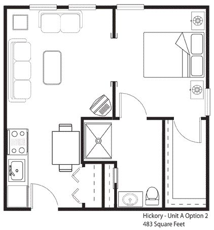 400 sq ft apartment floor plan google search 400 sq ft for Retirement apartment plans