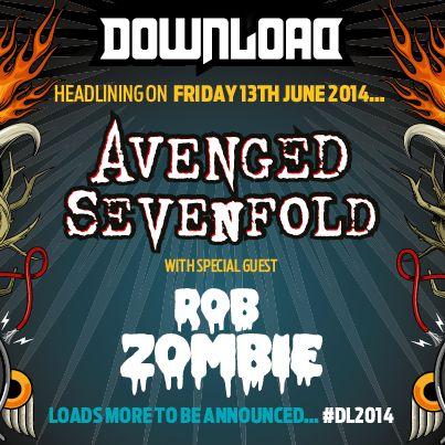 Avenged Sevenfold, primer cabeza de cartel confirmado para el Download Festival 2014 (UK)