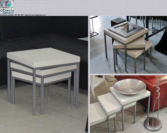 Mesas de apoio (3) tipo Ninho, que se adaptam de formas diferentes em diversos ambientes. https://www.facebook.com/objecta.segunda.mao/photos/a.502677349868970.1073741830.501864669950238/639642086172495/?type=3&theater