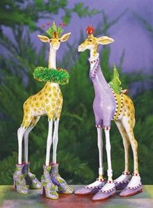 George & Janet Giraffe Ornaments from Patience Brewster. Add some glitz to your Christmas decorations. Available in store today!