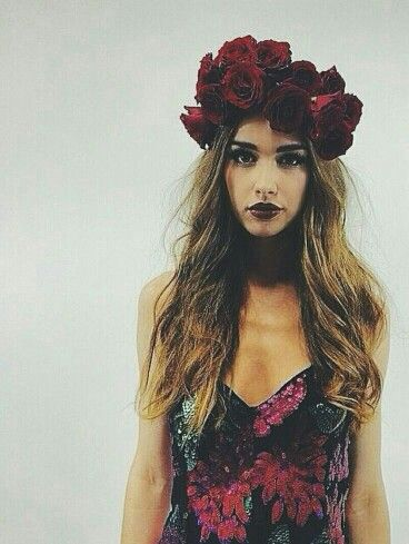 Beautiful Red Rose Headpiece/Crown×××× | Couture Floral Fantasy ...