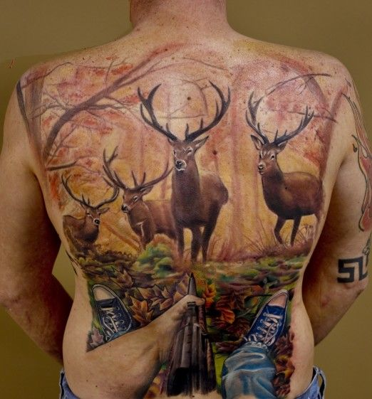 Hunting Back Piece By Jerry L. Pipkins, The Artist