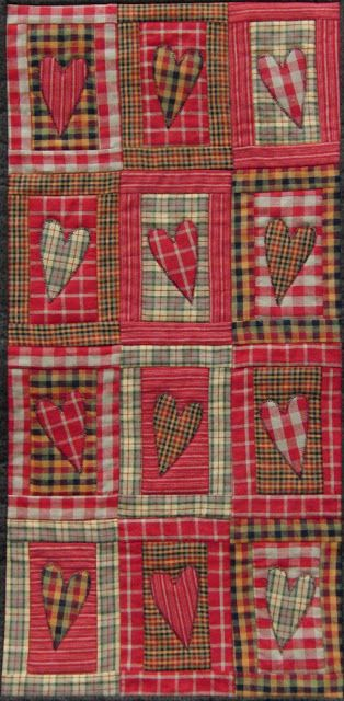 Plaid valentine quilt by Marjo (The Netherlands).  MBW quilts and other material issues: February 2012