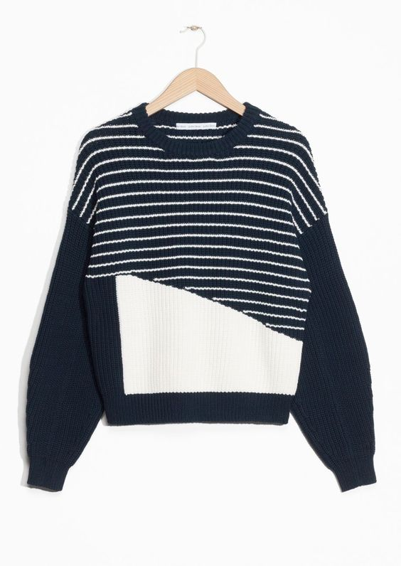 & Other Stories   Striped Cotton Sweater