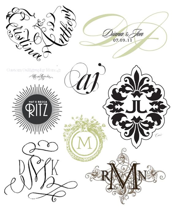 Modern Wedding Monograms