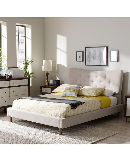 Furniture Jerell Modern King Linen Platform Bed Reviews