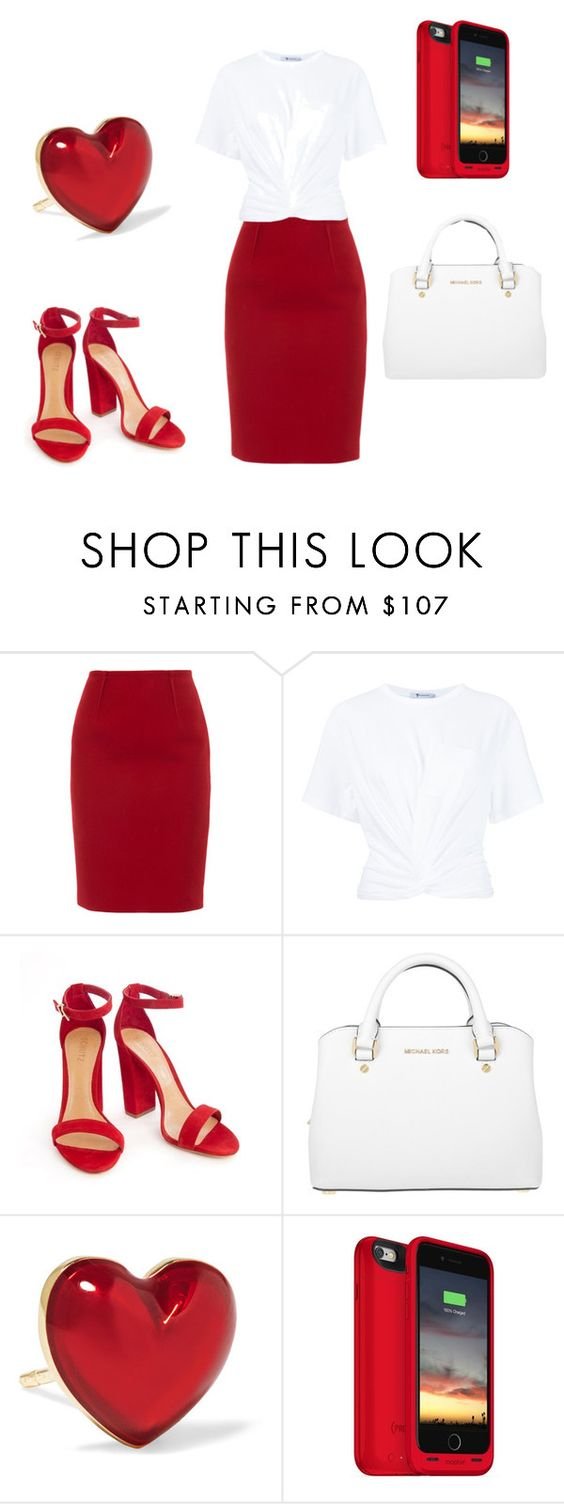 """Untitled #44"" by skrebosa ❤ liked on Polyvore featuring Paule Ka, T By Alexander Wang, Michael Kors, Alison Lou and Mophie"