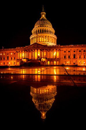 Washington Capitol at night