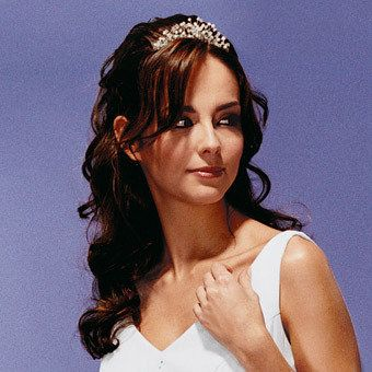 wedding hair with tiara pictures