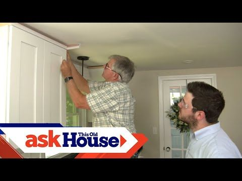 How To Hang Crown Molding On Kitchen Cabinets Ask This Old House Youtube In 2020 Installing Kitchen Cabinets Crown Molding Kitchen Kitchen Cabinet Crown Molding