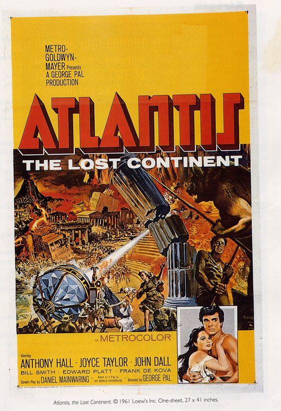 1950s scifi movie poster atlantis the fabulous
