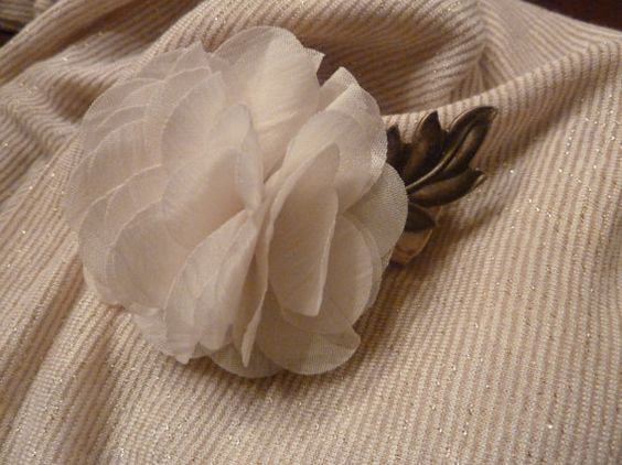 Flower and Leaf Wine Cork Pin by TheBeadedCork on Etsy, $12.00