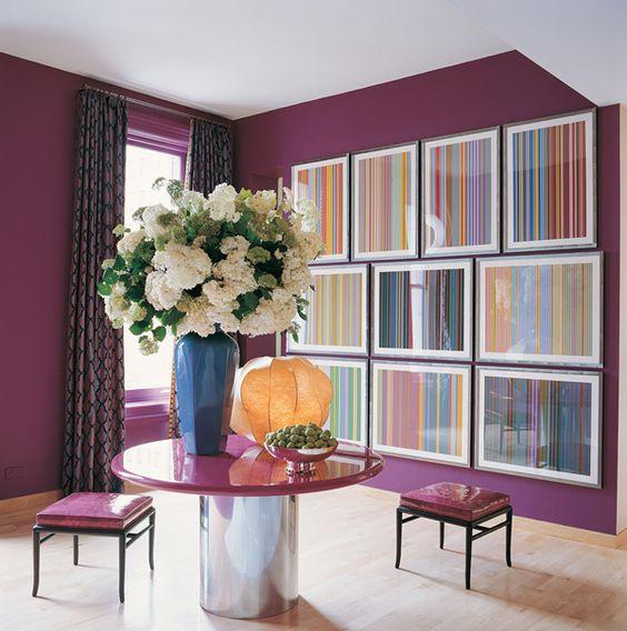 Design Idol - Purple, layout of prints.. table