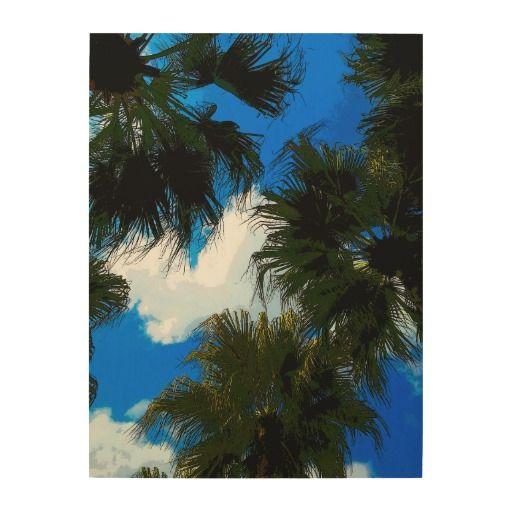 De Varenbladen van de palm Afdruk Op Hout