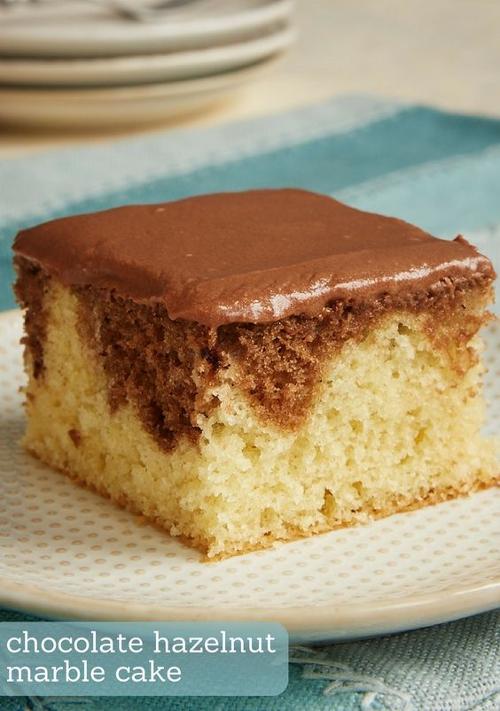 Chocolate Hazelnut Marble Cake combines a delicious yellow cake with a rich…