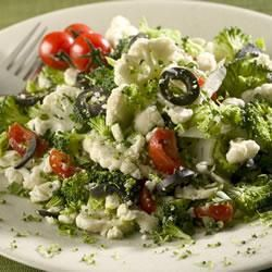 Salade de chou-fleur et brocoli à la feta