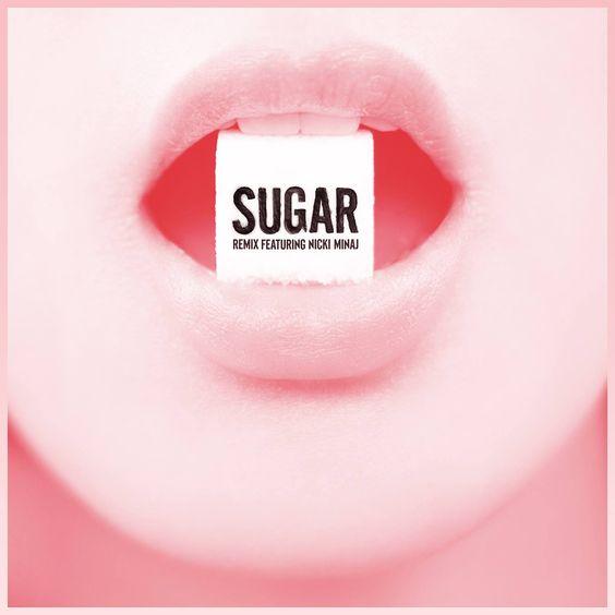 Maroon 5, Nicki Minaj – Sugar (single cover art)