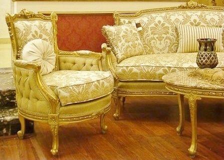 French royal sofa suite salon louis xv vintage rococo for Salon louis 15