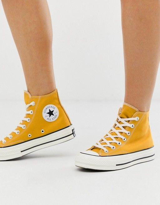 converse jaune montante