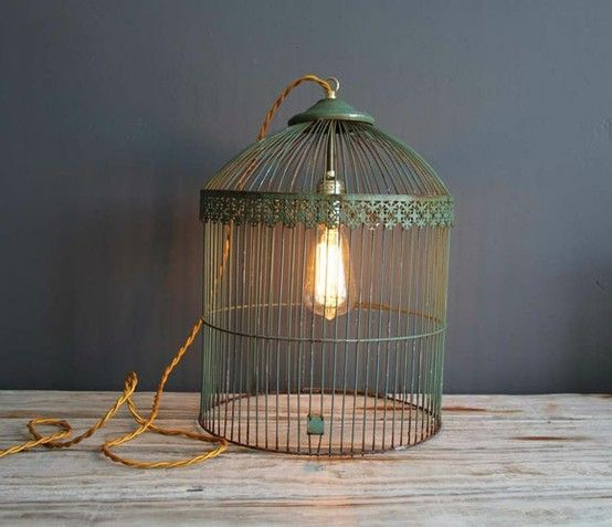 #DIYable Antique Birdcage Light: