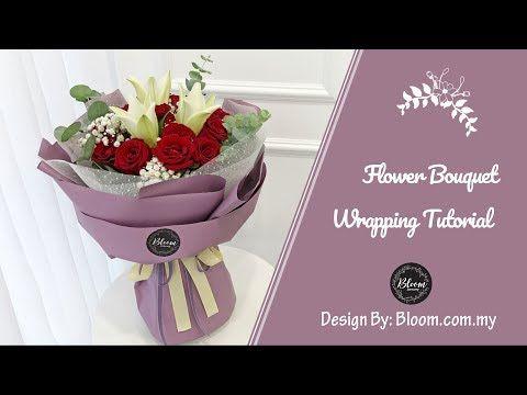 56 Flower Bouquet Wrapping Tutorial Round Design Wrapping Idea Technique Youtube Flowers Bouquet Flower Bouquet Diy Bouquet